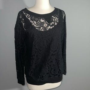Cute! Crew neck lace sweatshirt. New without tags!